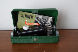 VINTAGE SINGER LOW SHANK BUTTONHOLER WITH 5 CAMs + Instructions 160506 - $48.37