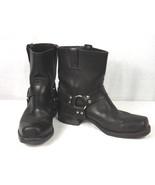 FRYE Men's Black Leather 8R Harness, Biker Motorcycle Boots Size 12M USA... - $150.00