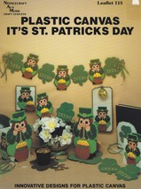 Its St Patricks Day, Plastic Canvas Pattern Leaflet NAM 115 Leprechaun S... - $4.95