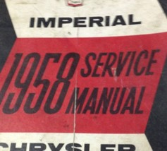 1958 CHRYSLER IMPERIAL Service Shop Repair Manual BRAND NEW FACTORY REPRINT - $89.10