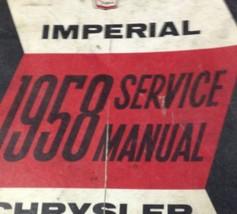 1958 Chrysler Imperial Service Shop Repair Manual Brand New Factory Reprint - $89.10