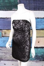 Sparkle & Fade Urban Outfitters Black Sequin Tinsel Cocktail Homecoming ... - £24.59 GBP