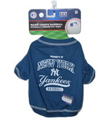 NY Yankees Baseball Team Dog Tee Shirt by Pets ... - $14.99