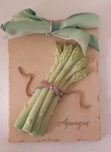 "Ceramic Kitchen Wall Hanging Asparagus Plaque 5 1/2"" x 4 1/2"" - $14.01"