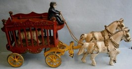 Vintage Cast Iron Horse Drawn Circus Wagon Toy ... - $193.05
