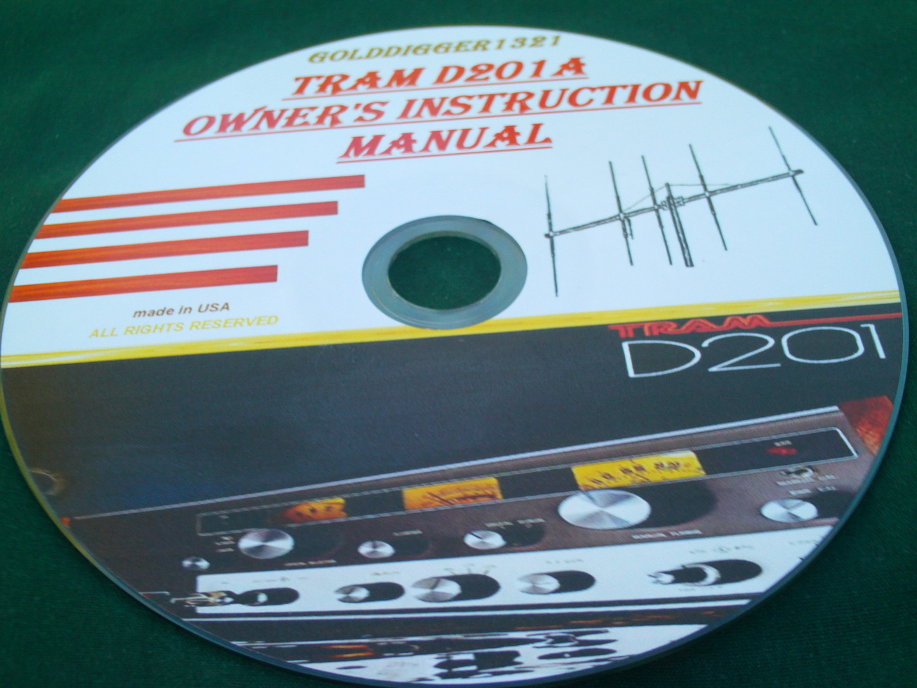 TRAM D201A OWNER'S INSTRUCTION MANUAL ON CD - $10.00
