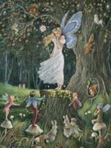 Queen of the Fairies  Jean Ron Henry Collectible Vintage 8X10 Matted Foi... - €5,67 EUR