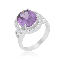Amethyst Halo Cocktail Ring - $20.00