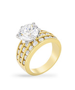 Classic Gold Engagement Ring - $27.00