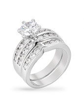 Formal Silvertone Engagement Set - $26.00