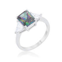 Classic Mystic Sterling Silver Engagement Ring - $30.00