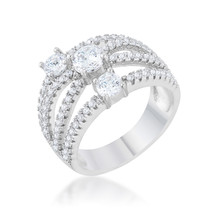 Beatrice 1.8ct CZ Platinum Statement Ring - $22.00