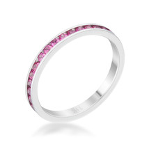Teresa 0.5ct Ruby CZ Stainless Steel Eternity Band - $14.00