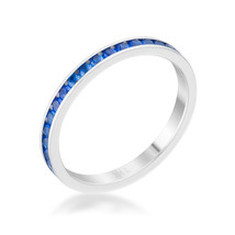 Teresa 0.5ct Sapphire CZ Stainless Steel Eternity Band - $14.00