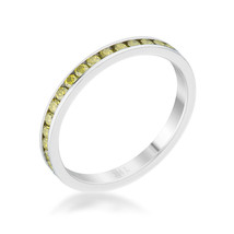 Teresa 0.5ct Peridot CZ Stainless Steel Eternity Band - $14.00