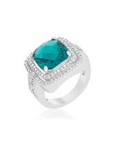 Candy Aqua Cocktail Ring - $28.00