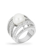 Right-Hand Pearl Ring - $32.00
