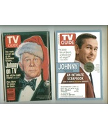 2 different JOHNNY CARSON TV GUIDE magazines  - $4.00