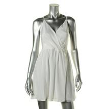 Alice Olivia dress crisscross back exposed zipper off white 4 $288 - $51.47