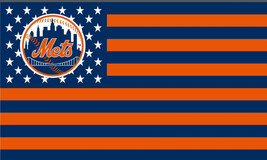 New York Mets 3 X 5 Feet Stars Stripes Flag Banner MLB Baseball Fan Decor - $14.95