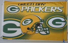 Green Bay Packers Banner Flag 3 x 5 feet with grommets for hanging Ameri... - £10.75 GBP