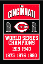 Cincinnati Reds World Series Champions 3 X 5 Feet  Flag Banner MLB Baseb... - $15.95