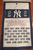 New York Yankees World Series Champions 3 X 5 Feet  Flag Banner MLB Base... - $15.95