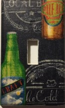 Beer Light Switch Plate Cover outlet wall home Bar decor kitchen Man Cav... - $7.75