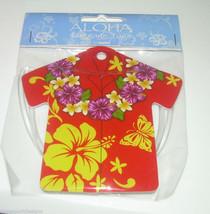 Hawaiian Shirt Baggage Tag Orange Aloha Luggage Airport Cruise NIP Tropi... - $12.60