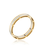 Two Tone Band Cocktail Ring - $27.00