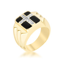 Faceted Cross Cubic Zirconia Ring - $28.00