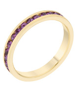 Stylish Stackables with Purple Crystal Ring - $12.00