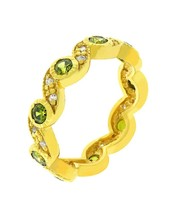 Olive Leaves Eternity Ring Size 7 - $19.80
