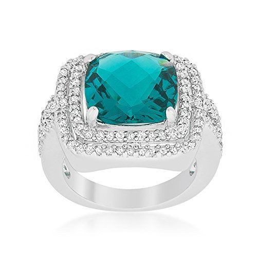 Candy Aqua Cocktail Ring Size 9