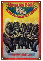 Ringling Bros Elephant Brass Band Circus Sign - $25.74