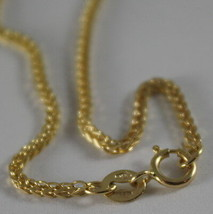 SOLID 18K YELLOW GOLD CHAIN NECKLACE WITH EAR LINK, 17.72 IN. MADE IN ITALY image 2