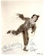 RAY Bolger The Scarecrow Wizard of Oz autograph reprint 5 x 7 new glossy... - $3.00