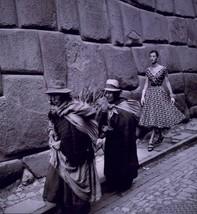 Fashion Model follows women in PERU 1950's unusual Peruvian reprint 5 x 7 - $4.65
