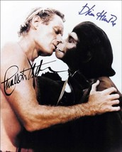 Charlton Heston kissing monkey Planet of the Apes autographed print 4 x 6 - $3.79