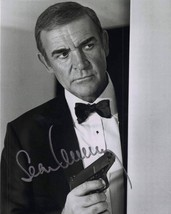 Sean Connery James Bond holding gun autographed reprint 4 x 6 glossy new - $3.79