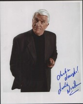 LESLIE NIELSEN autographed glossy new reprint size 4 x 6 - $3.79