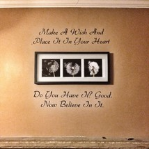 Make A Wish One Tree Hill Vinyl Wall Quote - $14.70
