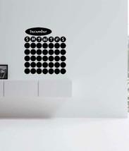 Chalkboard Vinyl Dot Wall Calendar - $19.60+