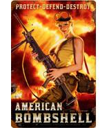 American Bombshell Metal Sign - $29.95