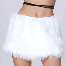 Women's Mini Led Light up Faux Fur Skirt image 4