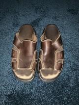 Dr Martens Men's Open Toe Sandals Brown Leather Size 8 - $14.84