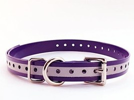"Sparky PetCo 3/4"" Roller Buckle Hi Flex Reflective Strap Purple For Garm... - $10.20"