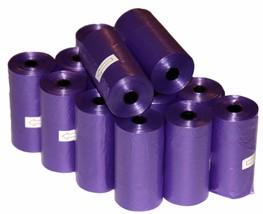 4000 DOG PET WASTE POOP BAGS 200 PURPLE REFILL ROLLS WITH CORE by Petout... - $56.09