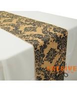 "12"" x 108"" Damask Print Rustic Vintage Linen Faux Burlap Runner - MADE I... - $9.75"