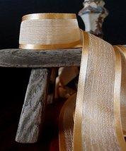 "AK-Trading 1.5"" x 25 Yards Faux Linen Ribbon with Satin Edge - Select Fr... - $19.10"